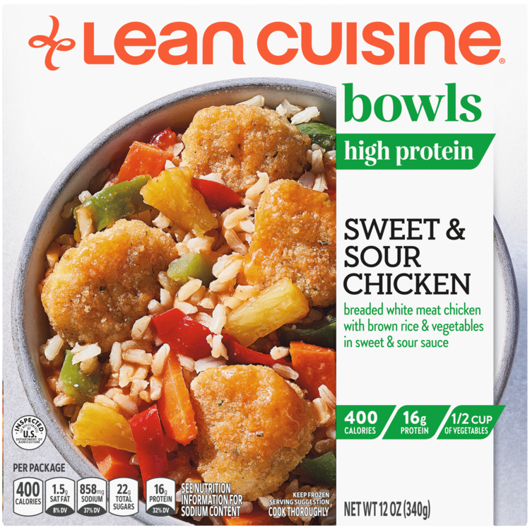 Sweet And Sour Chicken Frozen Bowl Official Lean Cuisine