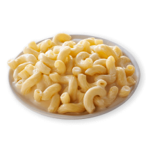 Image of Lean Cuisine Vermont White Cheddar Mac and Cheese on a white plate loaded with rich and creamy white cheddar on cavatappi pasta.