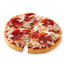 Image of Lean Cuisine Pepperoni Pizza cut into quarters.