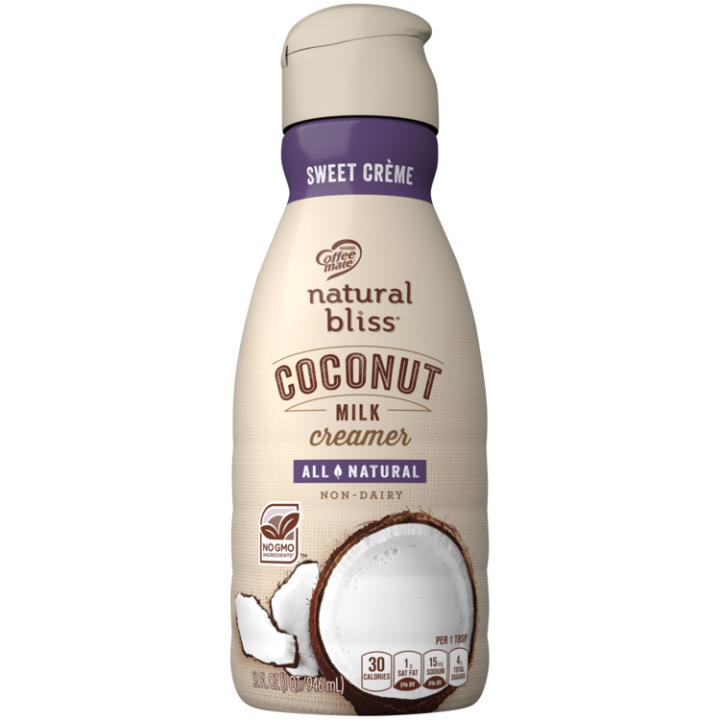 Sweet Creme Coconut Milk Coffee Creamer 32oz Official Natural Bliss
