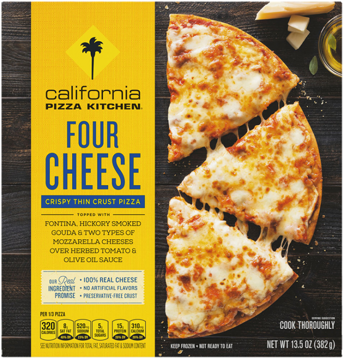 Four Cheese Crispy Thin Crust Pizza Official Cpk Frozen