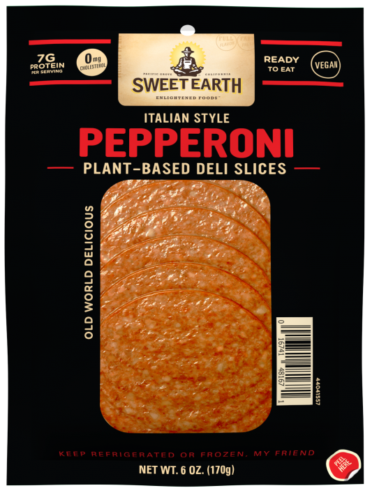 Italian-Style Vegan Pepperoni Slices | Official SWEET EARTH® FOODS